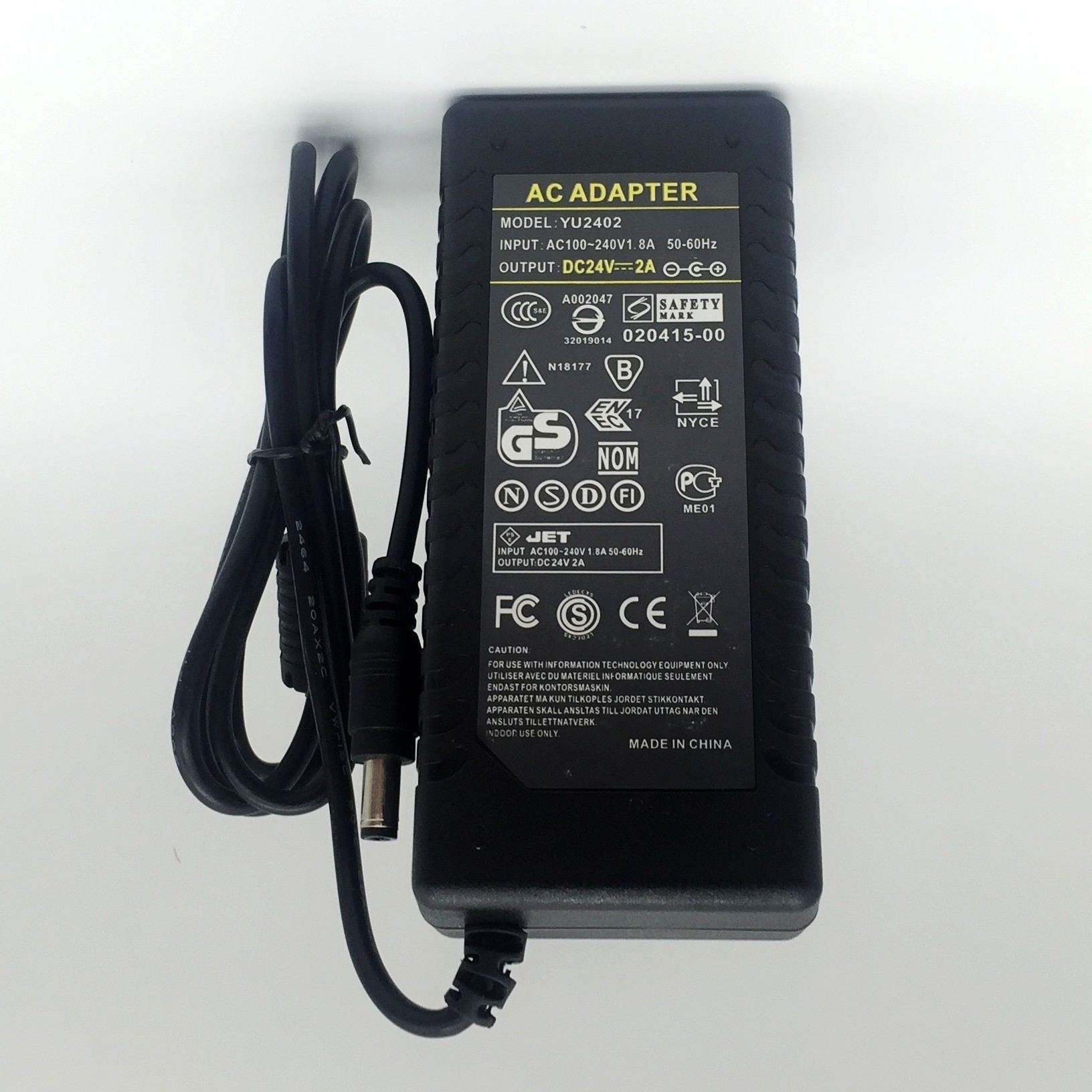 48W Power Transformer DC 24V 2A Constant Voltage Converter