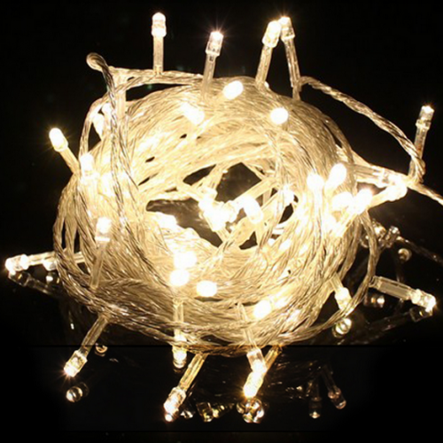 Warm White LED String Lights 10m 100 LEDs Christmas Party Light 5pcs