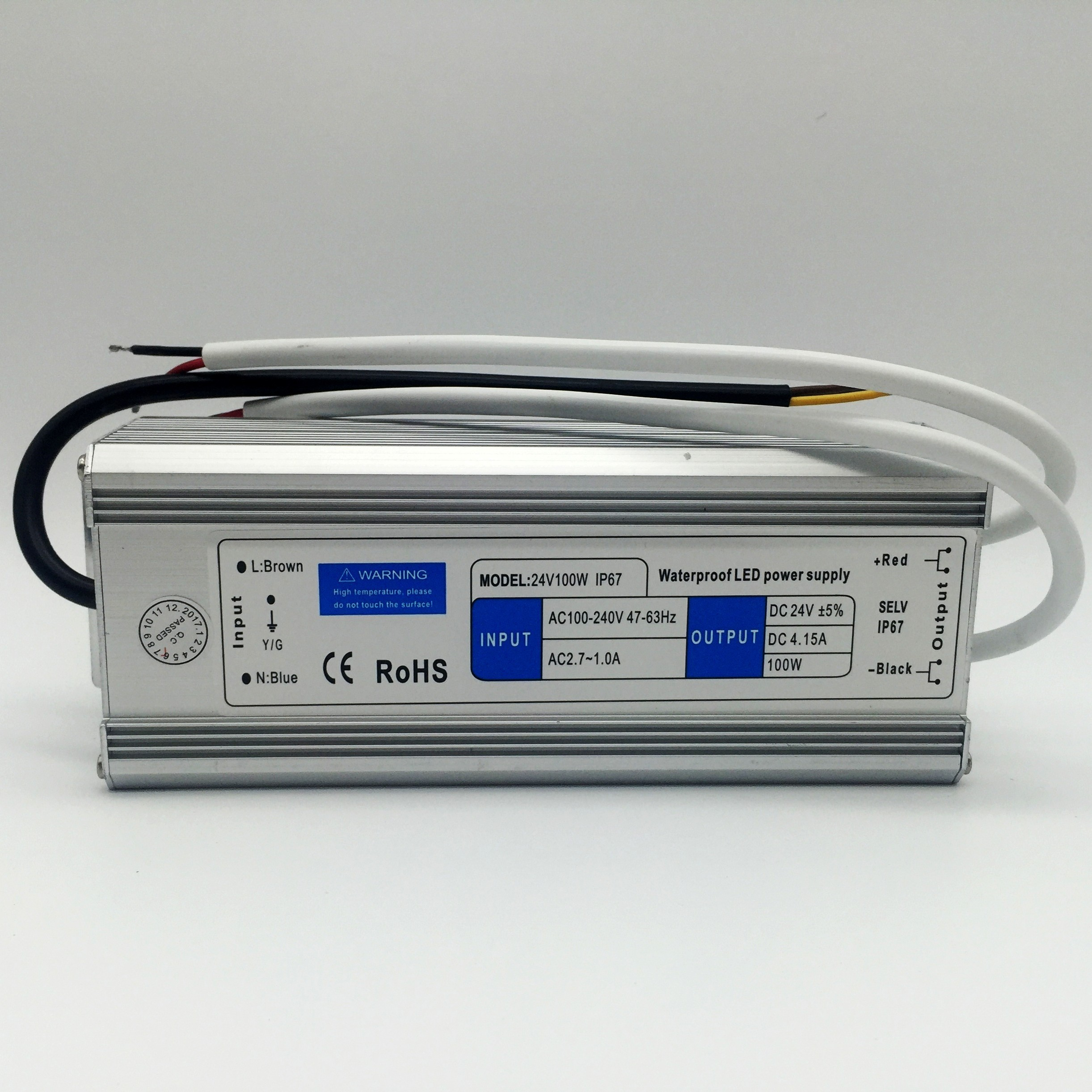Outdoor Use LED Power Supply 24V 100W IP67 LED Driver