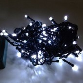 10M 100Leds Bullet Shaped White LED Light String For Christmas Tree