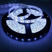 16.4Ft 300 LEDs SMD 5050 White Waterproof Flexible Strip Light