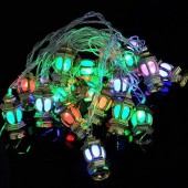 4M 20 LED Lanterns Shaped RGB Christmas String Light AC110V-240V
