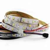 5M 60LEDs/M 300LEDs DC 24V RGB CCT 5050 SMD RGBW LED Tape Stripe Strip
