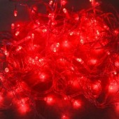 10M 100 LEDs Red String Lights For Christmas Decoration 5pcs