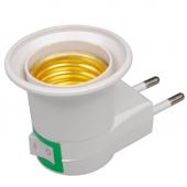 E27 Lamp Base Socket EU Plug With Power On-off Control Switch