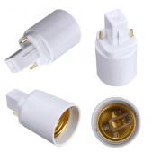 E27 To G24 Lamp Adapter Converter LED Bulb Socket Lamp Holder 20pcs