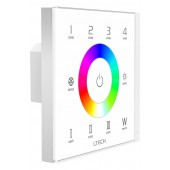 LTECH EX8S Wall Mount 2.4G RF 4 Zones Touch Panel AC100~240V LED Switch Controller