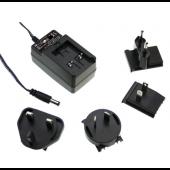 GE24 24W Mean Well Interchangeable Industrial Adaptor Power Supply