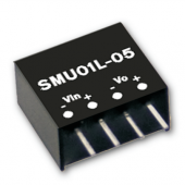 SMU01 1W Mean Well Unregulated Single Output Converter Power Supply